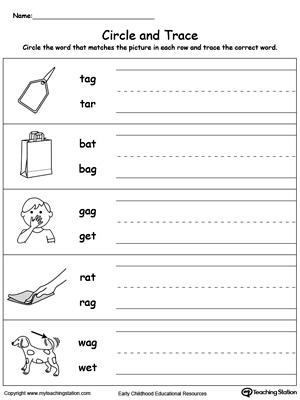 Free Worksheets » Kindergarten Vocabulary Worksheets - Free ...