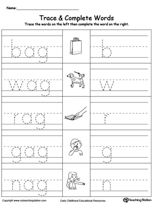 Ad Word Family Worksheets Printable - ad word family worksheets ...