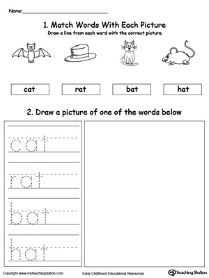 math worksheet : at word families kindergarten printables  k5 worksheets : At Word Family Worksheets For Kindergarten