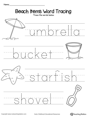 math worksheet : word tracing worksheets kindergarten  k5 worksheets : Tracing Worksheets For Kindergarten