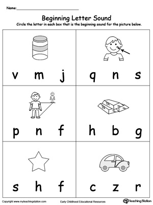 Kindergarten Worksheets » Beginning Sounds Kindergarten Worksheets ...