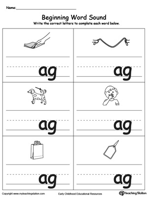 beginning sounds worksheets free