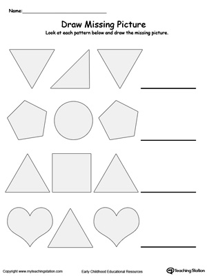Common Worksheets » Pattern Writing Worksheets Kindergarten ...