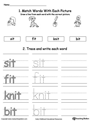 It Word Family Worksheets Free Worksheets Library | Download and ...
