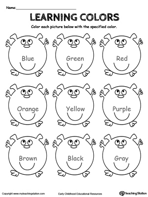 all worksheets color yellow worksheets preschool preschool learning colors worksheets - Learning Colors Worksheets For Preschoolers
