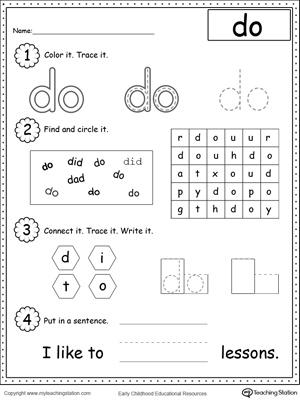 math worksheet : sight word go worksheet  k5 worksheets : Sight Word Kindergarten Worksheets