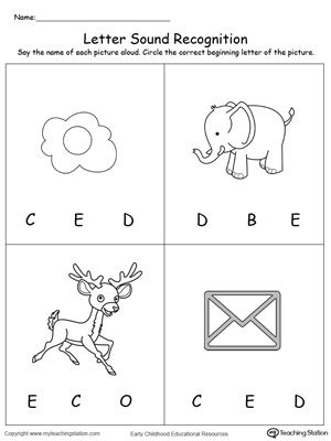 Early Childhood Alphabet Worksheets | MyTeachingStation.com