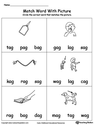 ,AG words,AG word families,word family,phonics printables,cvc words ...