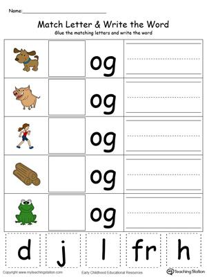 kindergarten printable worksheets myteachingstationcom number names worksheets three letter words