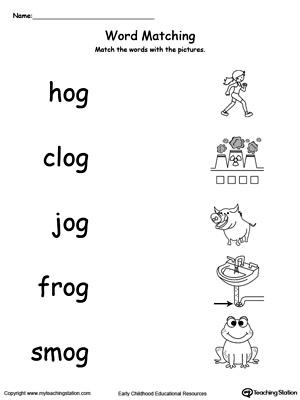 Og Word Family Worksheets Kindergarten - K5 Worksheets