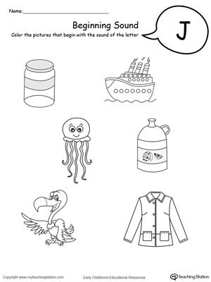 Free letter j worksheets for preschoolers