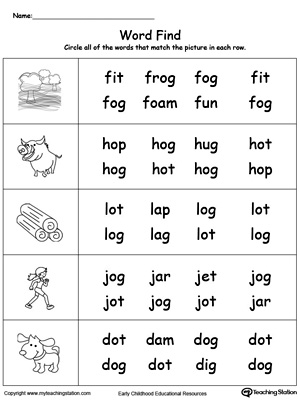 Id Word Family Worksheet Related Keywords & Suggestions - Id Word ...