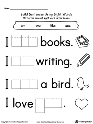 math worksheet : kindergarten practice writing sentences  k5 worksheets : Worksheet For Kindergarten Writing