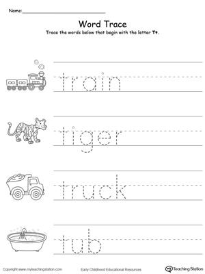 Free Worksheets » Letter T Worksheets Preschool - Free Printable ...