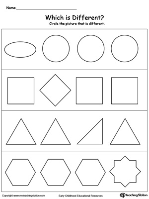 Common Worksheets » Printable Shape Worksheets - Preschool and ...