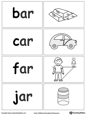 AR Word Family Workbook for Kindergarten | MyTeachingStation.com