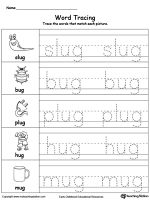 Worksheets Create Tracing Worksheets common worksheets word tracing preschool and kindergarten printable myteachingstation com