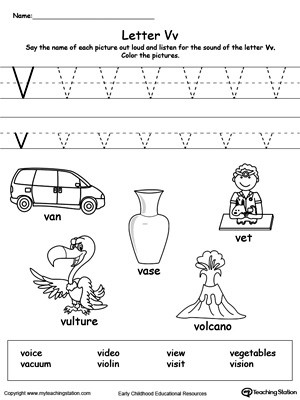 The Letter V is for Vase | MyTeachingStation.com
