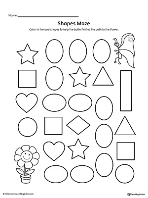 practice identifying oval geometric shapes with this fun and simple