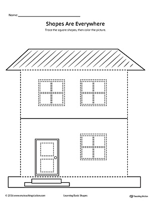 trace shapes to make a house. Black Bedroom Furniture Sets. Home Design Ideas