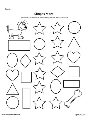 Practice identifying Star geometric shapes with this fun and simple ...