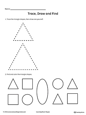 how to draw a 3d rectangle with a triangle