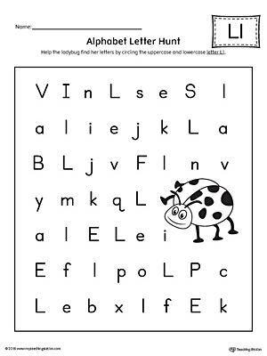 Worksheet For Kindergarten Letter: Kindergarten alphabet ...