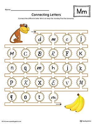 Letter M Worksheets Kindergarten & picture letter match letter m ...