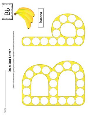 Letter B Pattern Maze Worksheet (Color) | MyTeachingStation.com