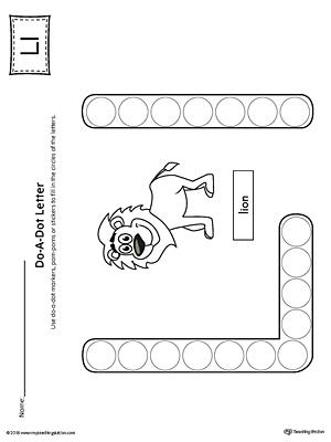 letter l do a dot worksheet uppercase letter l maze worksheet ...
