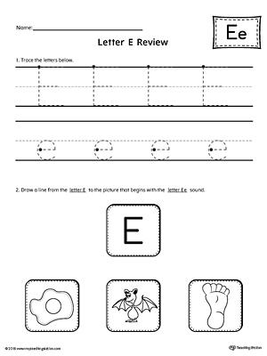 Letter E Worksheets For Kindergarten & free worksheets letter e ...