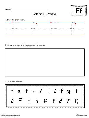 Free Worksheets : preschool letter f worksheets Preschool Letter F ...