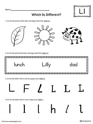 Preschool Worksheets » Letter L Preschool Worksheets - Preschool ...