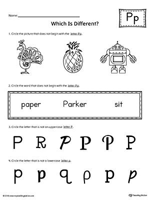 Number Names Worksheets The Letter P Worksheets Free Printable