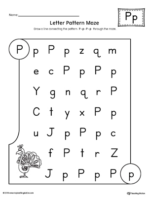 Number Names Worksheets : letter p worksheets for kindergarten ...