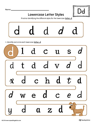 Kindergarten Alphabet Printable Worksheets | MyTeachingStation.com