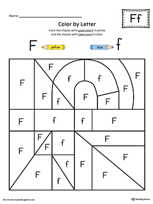 Letter F Tracing and Writing Printable Worksheet (Color ...