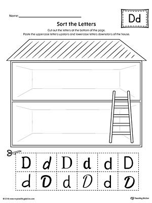 letter d writing steps mat printable. Black Bedroom Furniture Sets. Home Design Ideas