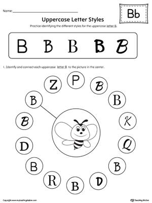 Kindergarten Alphabet Printable Worksheets | MyTeachingStation.com