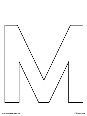 Impeccable image for printable letter m
