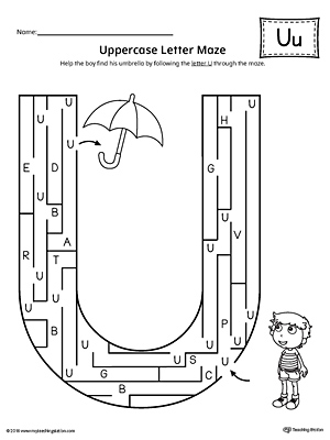 Preschool Letter Worksheets S additionally Letter Pattern Maze Letter G Worksheet further Letter P Craft further Oceanmazes likewise Letter B Beginning Sound Flipbook Printable. on letter u maze printable
