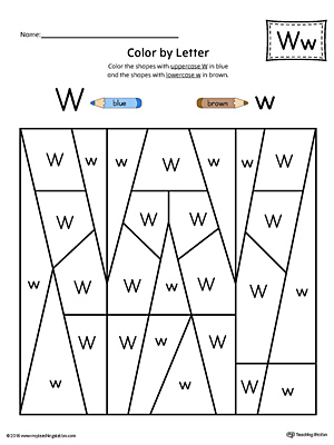 Letter W Formation Writing Mat Printable ...
