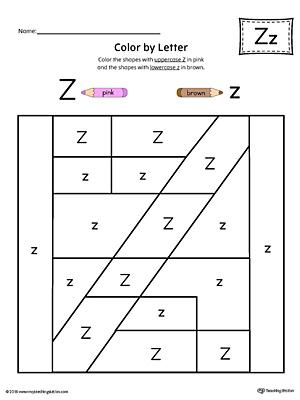 letter z pattern maze worksheet. Black Bedroom Furniture Sets. Home Design Ideas
