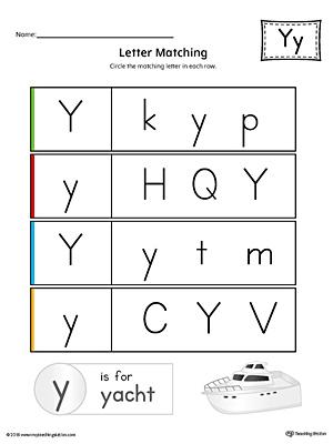common worksheets letter y worksheets preschool and kindergarten worksheets. Black Bedroom Furniture Sets. Home Design Ideas