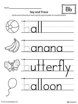 Kindergarten Writing Printable Worksheets | MyTeachingStation.com