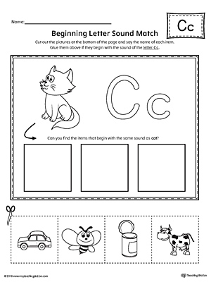 letter c cut and paste printable mini book. Black Bedroom Furniture Sets. Home Design Ideas