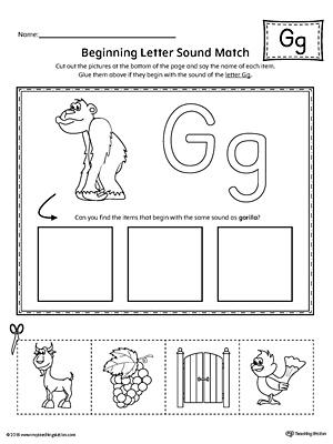 Letter G Writing Steps Mat Printable | MyTeachingStation.com
