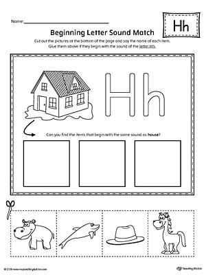 Letter H Worksheets Kindergarten Mattawa