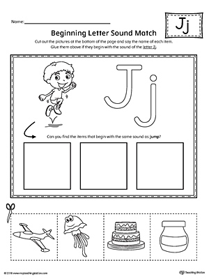 Beginning Sounds Letter J Worksheets - beginning sounds letter j ...