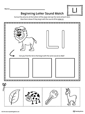Say and Trace: Letter L Beginning Sound Words Worksheet ...